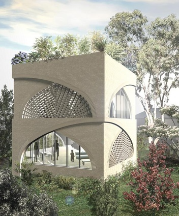 Vault House: Rana Abboud's proposal for a sustainable suburban house, which won an Open Face Award in the 2011 Think Brick Awards.