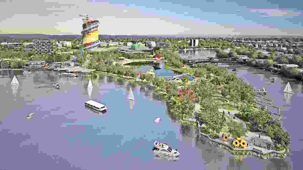 Riverside view of the proposed Gold Coast Cultural Precinct.