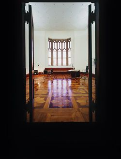 Entry to the newly refurbished Muniment Room at the University of Sydney, which houses the Department of Philosophy's Centre for Time.