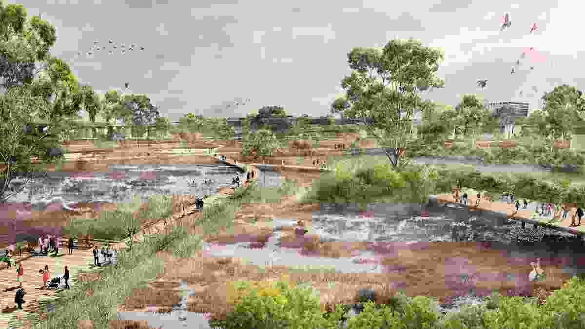 Moonee Ponds Creek Opportunities Plan by McGregor Coxall won a Landscape Architecture Award in the Landscape Planning category.
