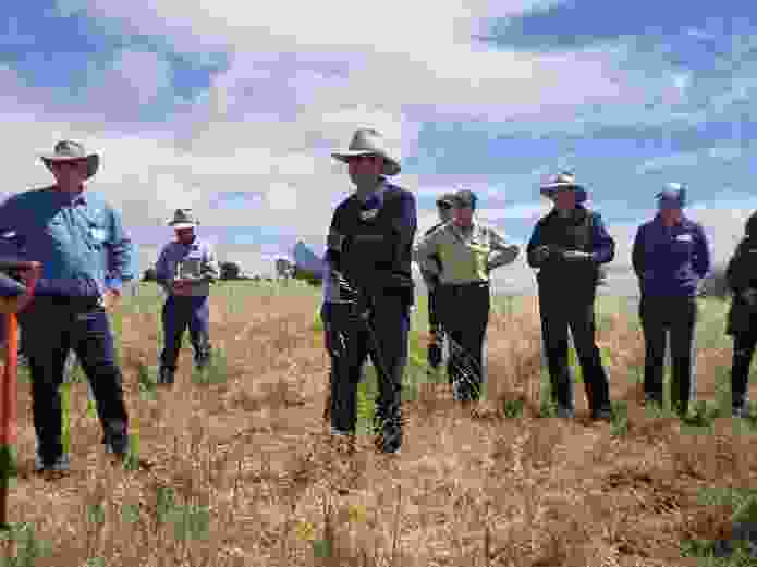 David Marsh sharing his experiences with other interested farmers.