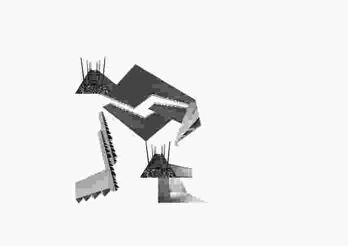 A digital collage of NGV International's architectural elements by Amy Muir provided the design blueprint for Doubleground.