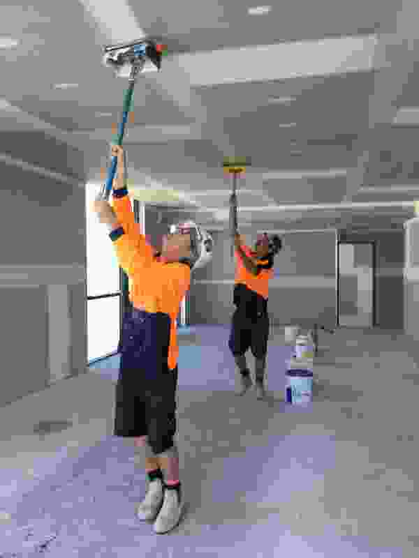 The Sheetrock Dust Control system from USG Boral can help maintain a cleaner work site.