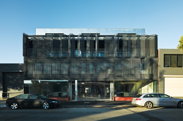 Fitzroy Apartments: The facade features finely crafted steelwork.