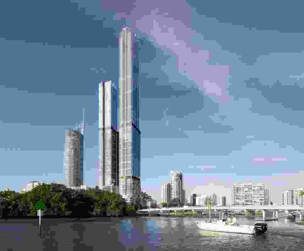 The proposed Orion towers by Woods Bagot will the tallest building complex in Australia if constructed.