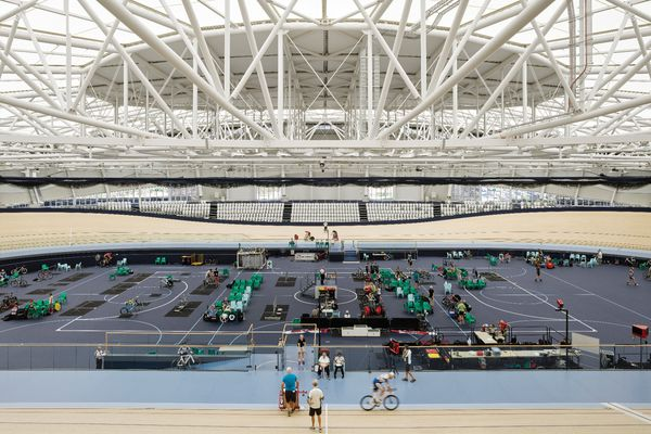The Anna Meares Velodrome, completed in time for the 2018 Commonwealth Games, is part of the wider Sleeman Sports Complex in Brisbane.