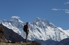 At Everest's feet