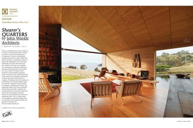 A preview from the magazine: Shearer's Quarters by John Wardle Architects.