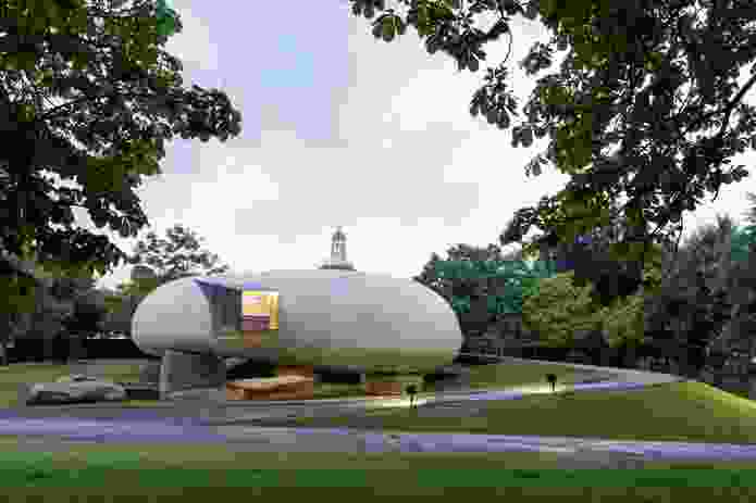 Serpentine Gallery Pavilion 2014 in London, designed by Smiljan Radić.