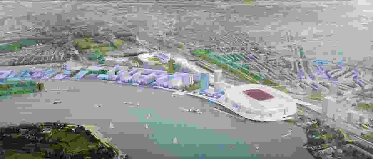 OMA's masterplan for Feyenoord City.