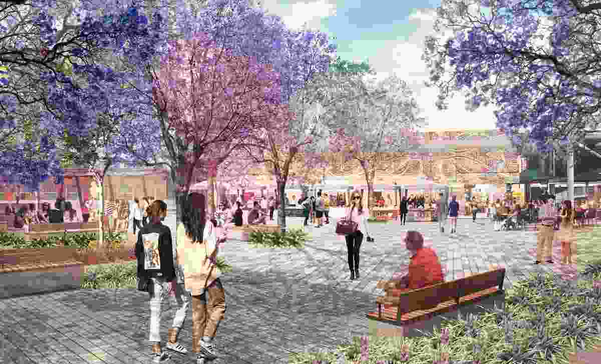 University of Adelaide North Terrace Campus Public Realm Concept Design by Aspect Studios   took out the Award of Excellence in the Urban Design category.