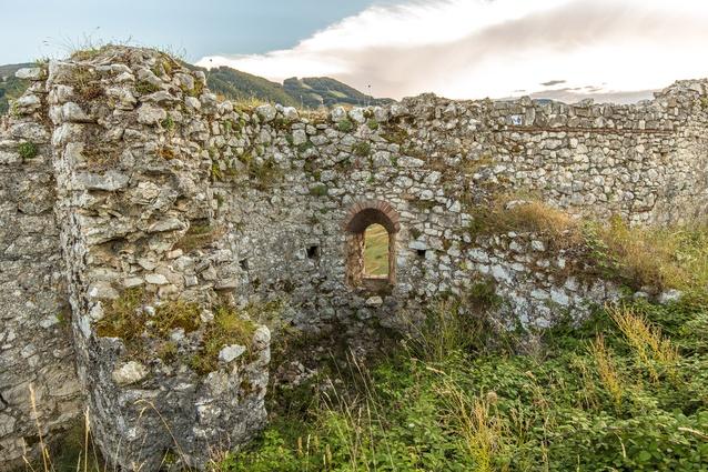 A window at Italy's Castle of Roccamandolfi.