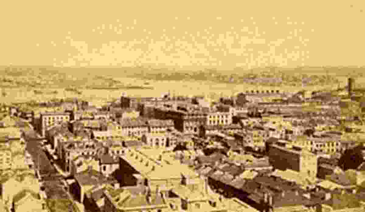 'Sydney Looking West' from Maddock's Guide to Sydney, 1872.