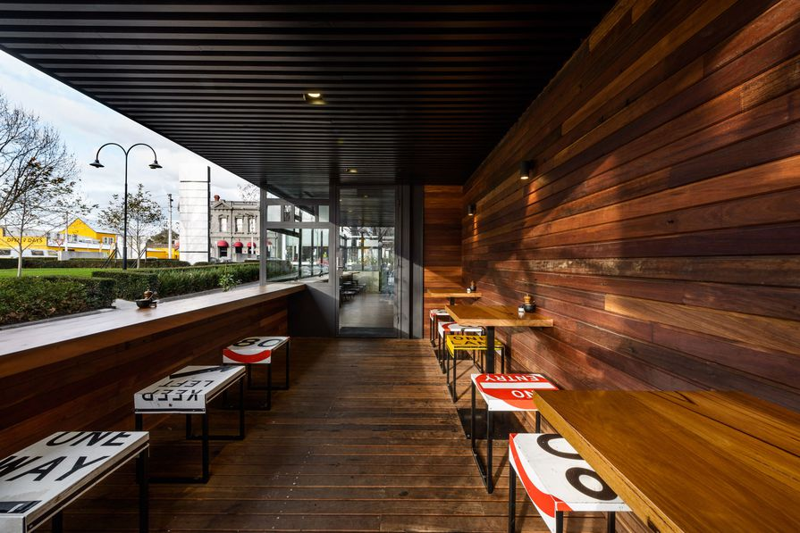Top Paddock Cafe by Six Degrees Architects with Nathan Toleman Design & Construction.