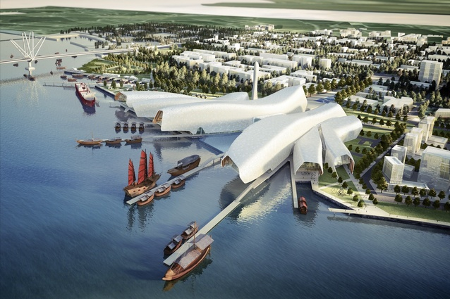 National Maritime Museum of China by Cox Architecture.