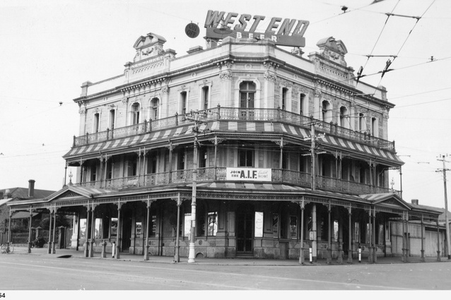 Adelaide's Newmarket Hotel, designed by Daniel Garlick, pictured in 1941.
