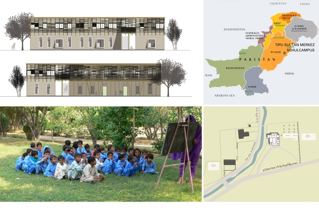Gold medal winner: Locally manufactured cob and bamboo school building, Jar Maulwi, Pakistan.