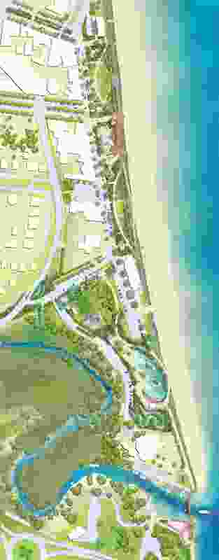 Site plan of the proposed Yeppoon foreshore revitalization by Taylor Cullity Lethlean.