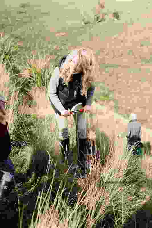 The first planting day held at the property attracted a large group of volunteers.