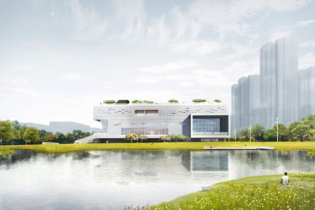 Ping Shan Performing Arts Centre by Open Architecture.