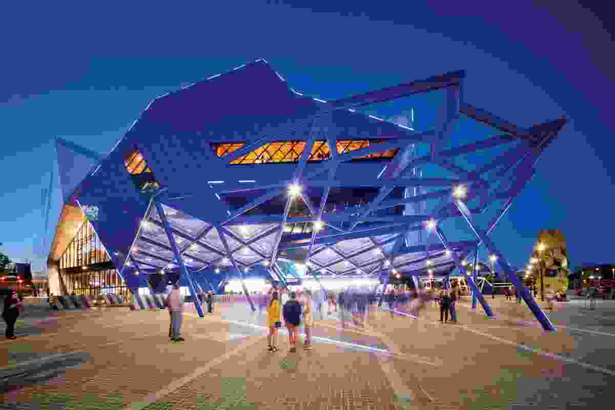 The Perth Arena is part of a plan to better connect the central business district with the adjacent entertainment district.