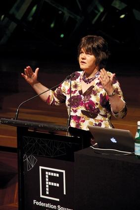 Keynote speaker Carolyn Steel on food and design.