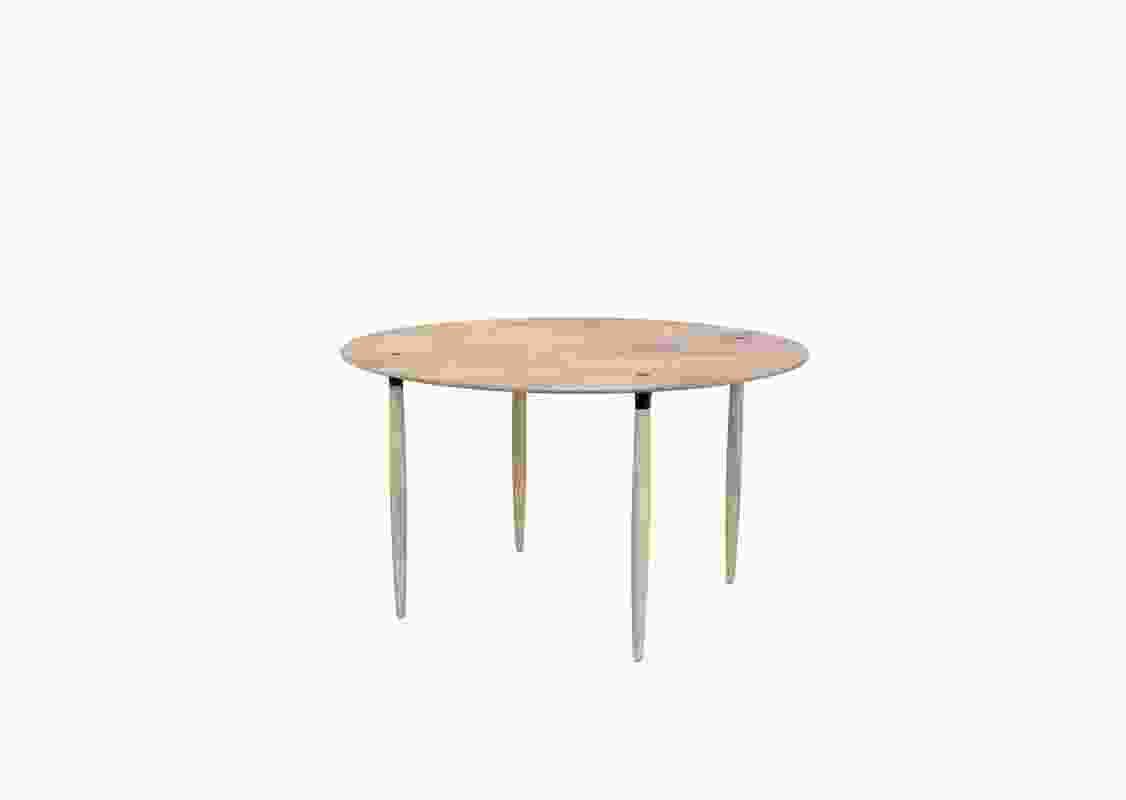 Slow Collection dining table by Space Copenhagen for Stellar Works.