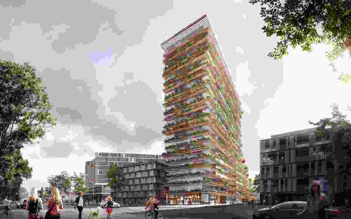 A proposed residential tower in Sydney's Waterloo by Kengo Kuma and Koichi Takada Architects.
