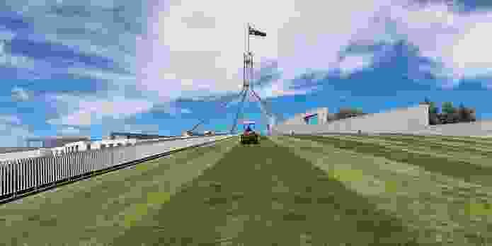 The lawns of Parliament House.
