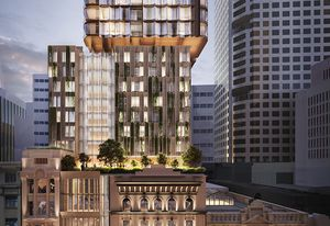 The 49-storey tower to be built above  Sydney's City Tattersalls Club, designed by BVN.