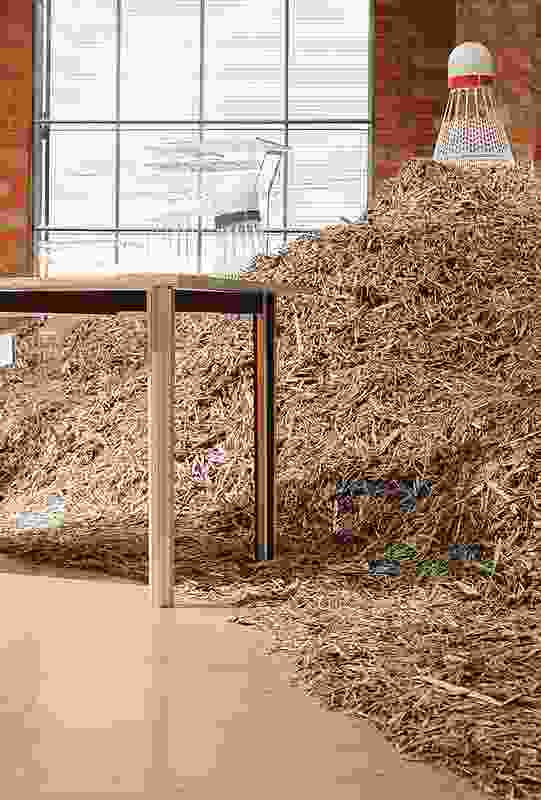 Edwards Moore's Fringe Furniture installation.