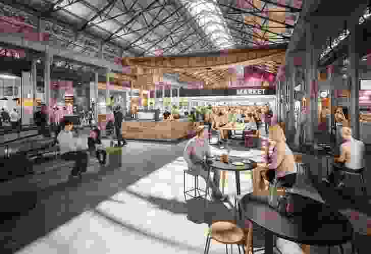 Sissons Architects design for the redevelopment of the Locomotive Workshops building in Eveleigh.