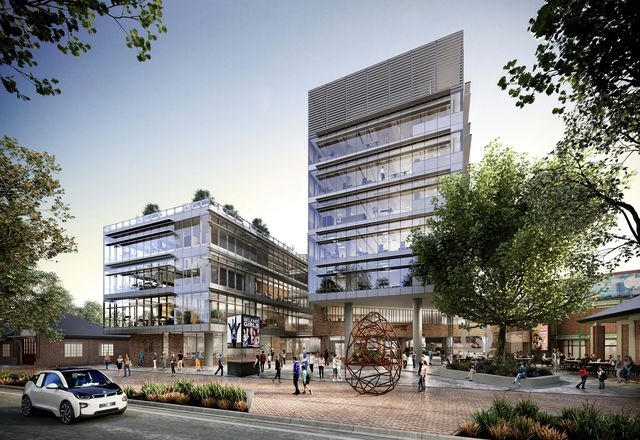 The Queanbeyan civic and cultural precinct designed by Cox Architecture.