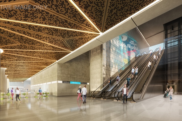 An internal view of the CBD North Station.