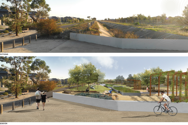 The Greening the Pipeline pilot project at Williams Landing. Concept design by Henry Architects.