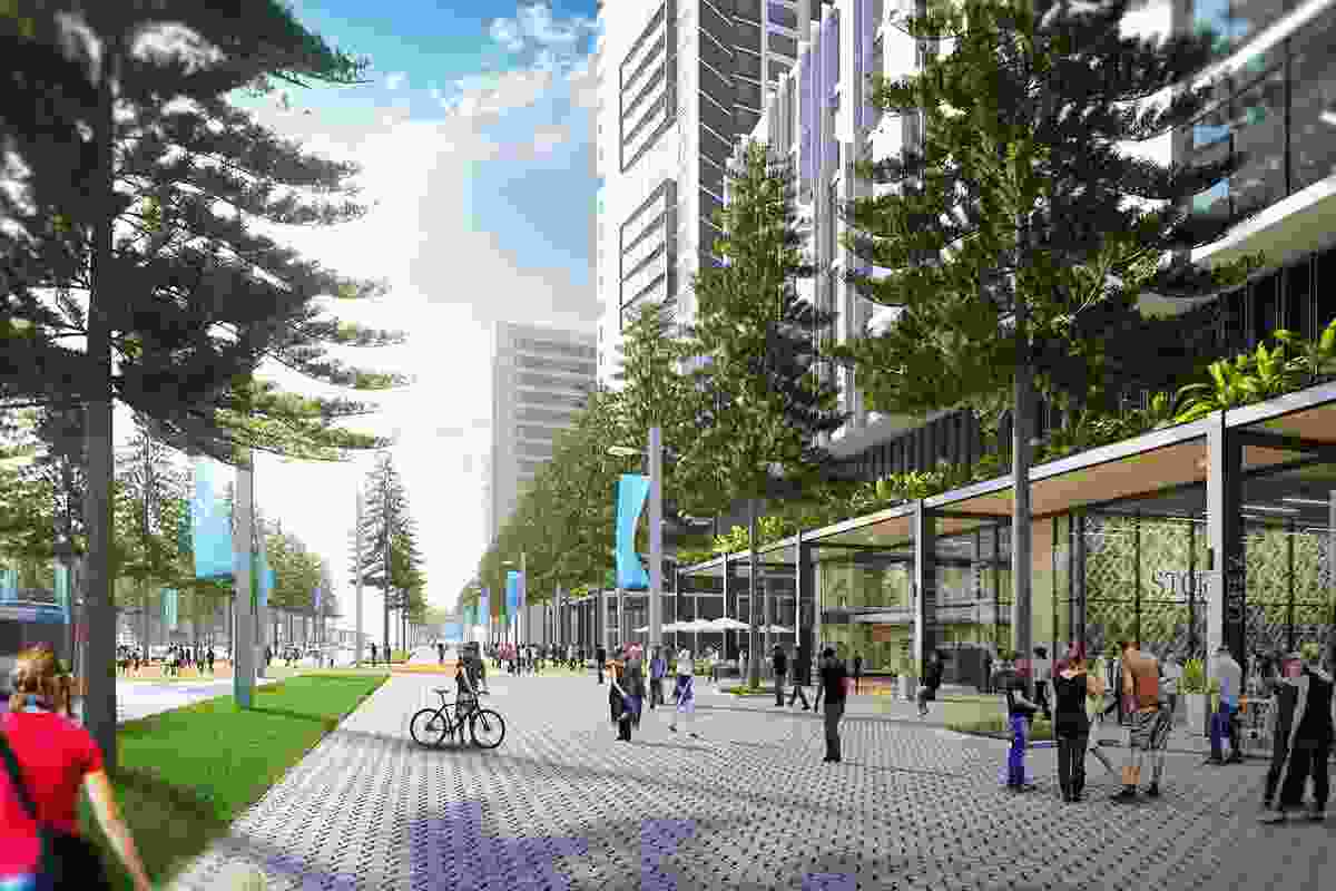 A concept design for Olympic Boulevard by Sydney Olympic Park Authority (SOPA) with assistance from Ruker Urban Design.