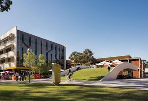 Creative Quarter Cycle Hub, Curtin University by Place Laboratory won the Award of Excellence in the Infrastructure category.