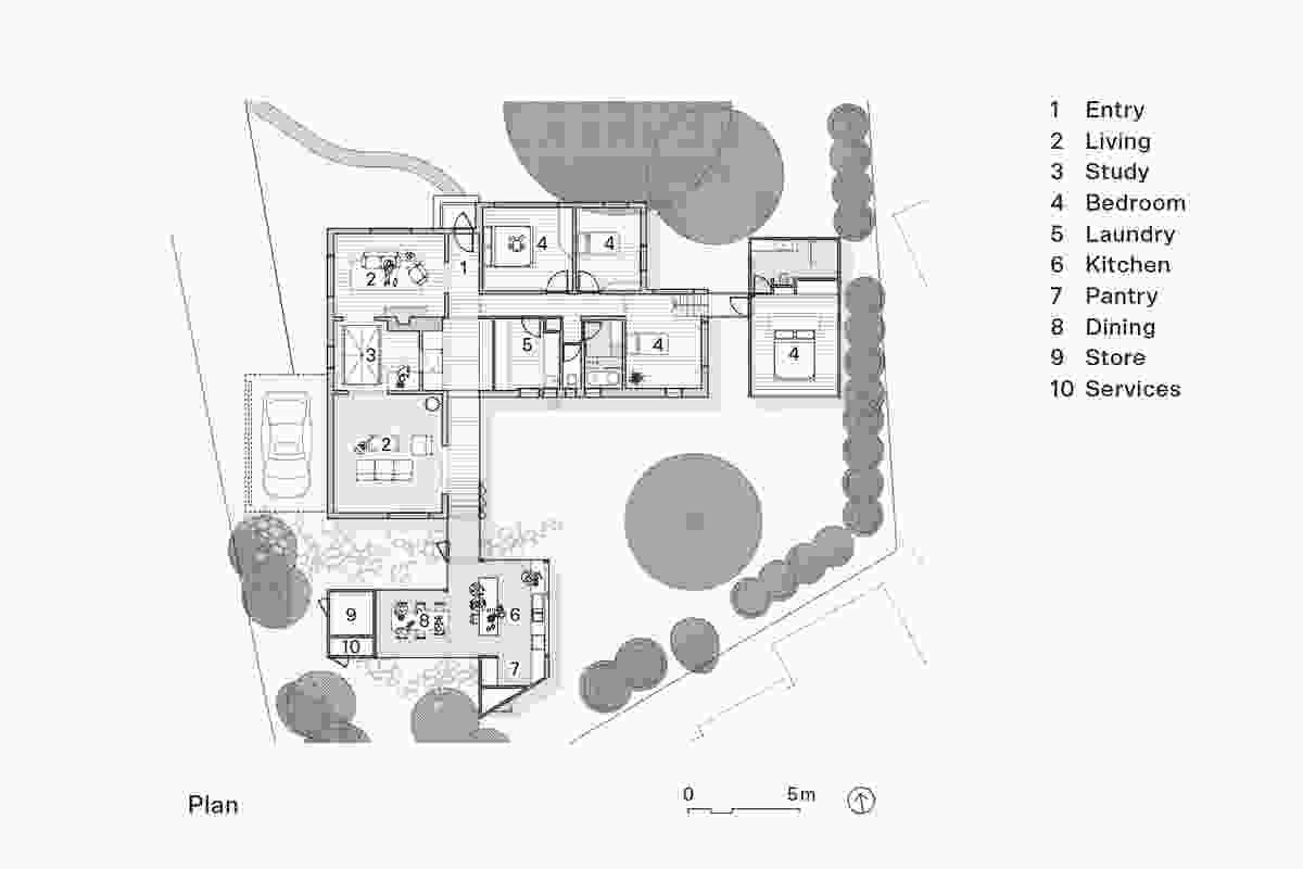 Plan of Empire House by Austin Maynard Architects.