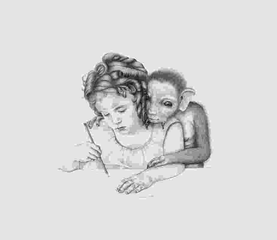 Patricia Piccinini, Alice (drawing) 2006, graphite on paper, 57 x 77 cm.