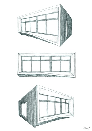 Sketches of Archiblox's Carbon Positive House.