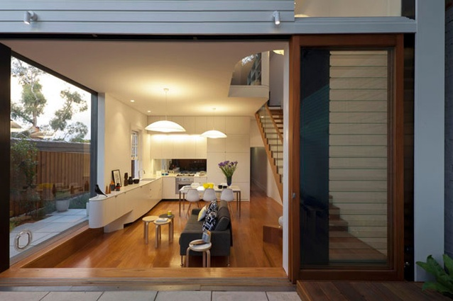 The open-plan living area is the social hub of the house.