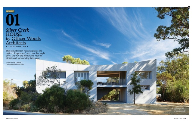A Preview From The Magazine: Silver Creek House By Officer Woods Architects.