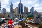 Inflatable 'luminarium' appears in Fed Square