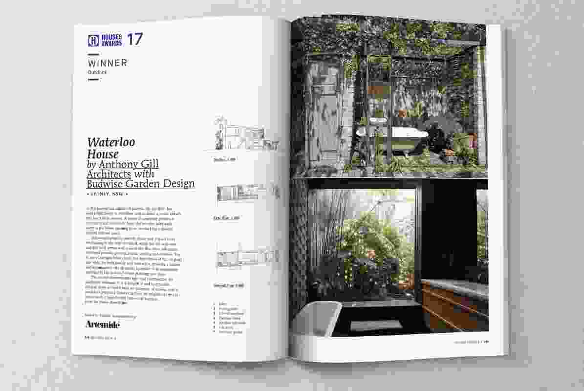 Winner of Outdoor: Waterloo House by Anthony Gill Architects with Budwise Garden Design.