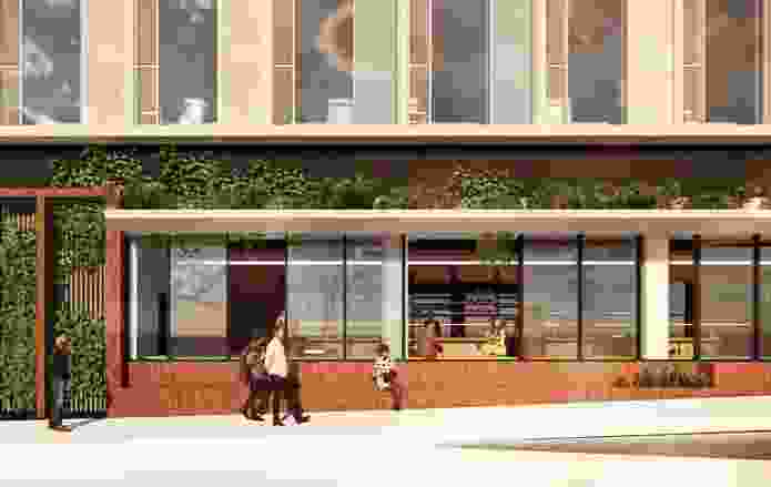 Ground level retail component of Adelaide micro-hotel by Woods Bagot.