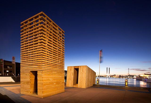 The Sealight Pavilion at Docklands, Melbourne.