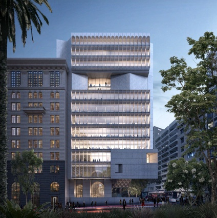 The proposed tower at 4-6 York Street, designed by Candalepas Associates.