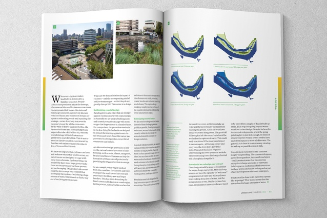 Spread from the August 2017 issue of <i>Landscape Architecture Australia</i>.