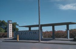Entrance to Albert Park, 1957.