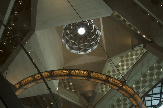 Zenithal light spills through the oculus of the museum's stunning central dome.